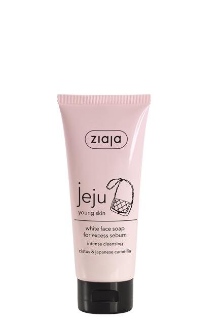 jabón facial blanco